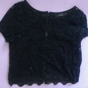 Aritizia dilemma top black lace